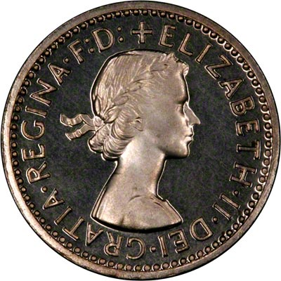Obverse of 1966 Maundy Fourpence