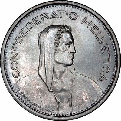 Obverse of 1967b 5 Francs