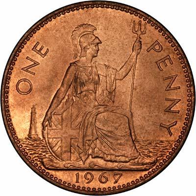 Britannia in 1967 on the Last Pre-decimal Penny
