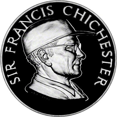 Obverse of Sir Francis Chichester Silver Medallion