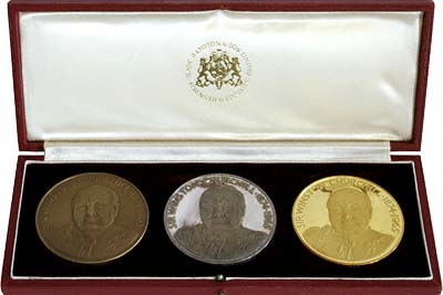 Complete Set of 1967 Houses of Parliament Medallions in Presentation Box