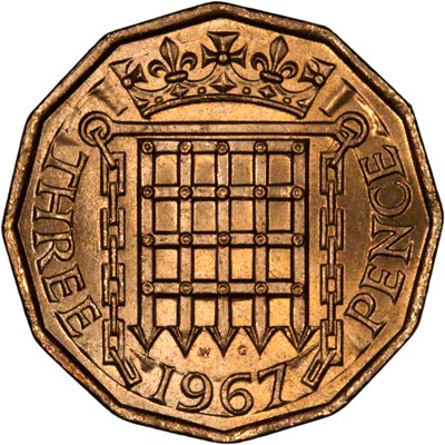 1967 three pence coin value