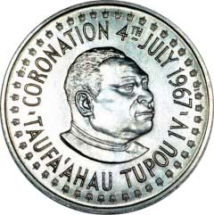 Obverse of Tonga Palladium One Hau
