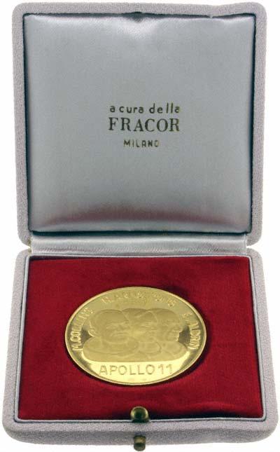 First Moon Landing Gold Medallion in Presentation Box