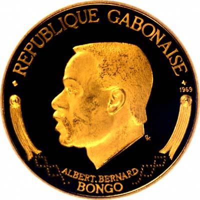 Obverse of 1992 Gabon 15,000 Francos
