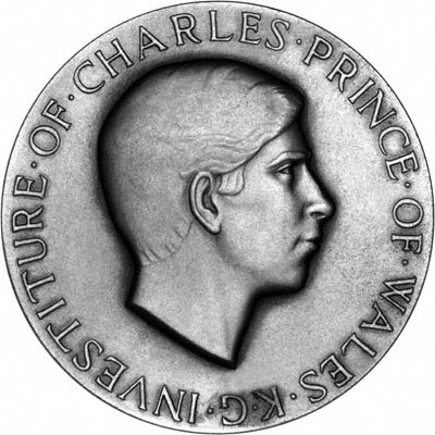 Prince Charles on Obverse of 1969 Investiture Medallion