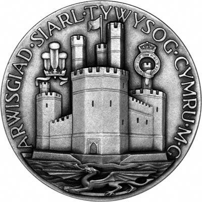 Caernavon Castle on Reverse of 1969 Investiture Medallion
