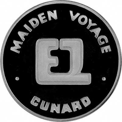 Reverse of 1969 Queen Elizabeth II Maiden Voyage in Palladium