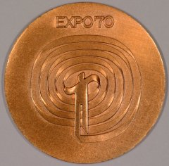 Reverse of Japan Expo '70 Bronze Medallion