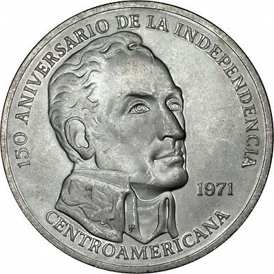 Obverse of 1971 Panama 20 Balboas