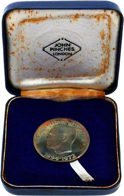 1972 Edward Duke of Windsor Medallion in Presentation Box