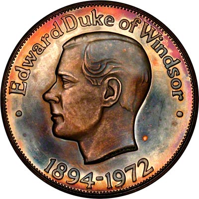 Obverse of 1972 Edward Duke of Windsor Medallion