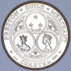 Obverse of Preston Guild Medallion 1972