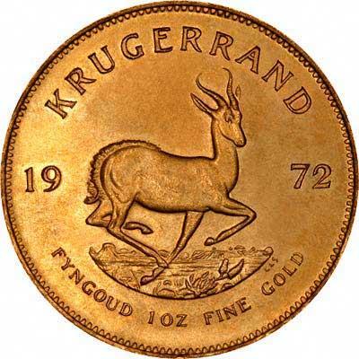 Reverse of 1972 Krugerrand