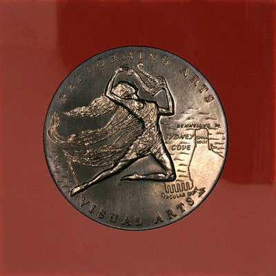 Reverse of 1973 Sydney Opera House Medallion in Presentation Case