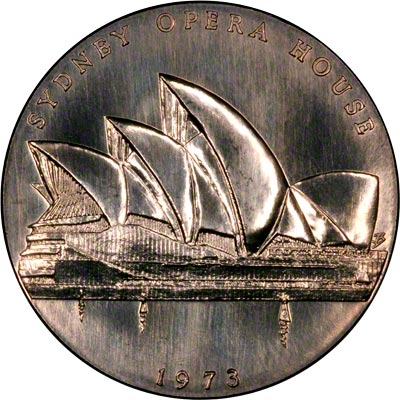 Obverse of 1973 Sydney Opera House Medallion