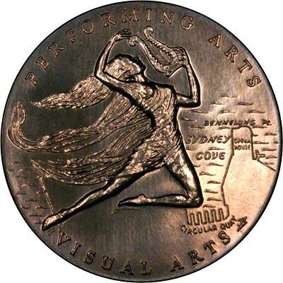 Reverse of 1973 Sydney Opera House Medallion