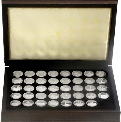 1974 Historic Counties of England Silver Medallion Set