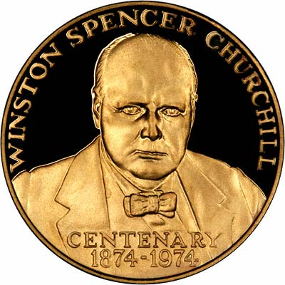 Obverse of Churchill Gold Medallion