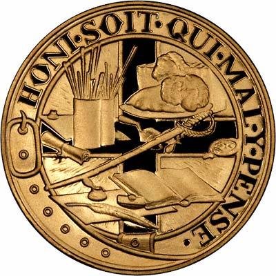Reverse of Churchill Gold Medallion