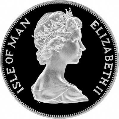 Obverse of 1975 Manx Crown