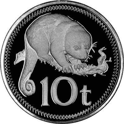 Reverse of 1975 10 Toea