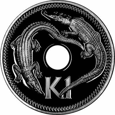 Reverse of 1975 1 Kina