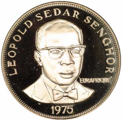 Leopold Sedar Senghor on Obverse of 1975 Senegal 150 Francs