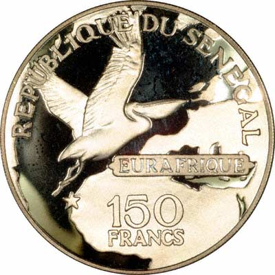 Reverse of 1975 Senegal 150 Francs