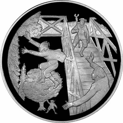Obverse of Silver Medallion - A Near Escape from Death