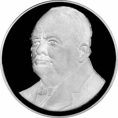 Obverse of Winston Churchill 1874- 1965