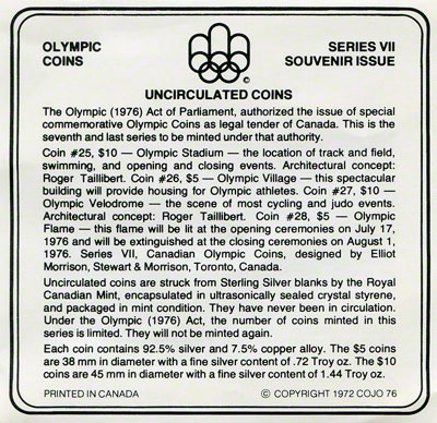 1976 Montreal Olympiad Four Coin Set