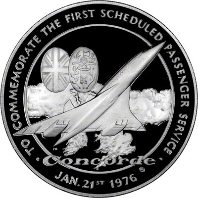 Obverse of 1976 Concorde Medallion