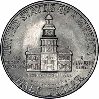 Reverse of 1976 Kennedy Silver Half Dollar