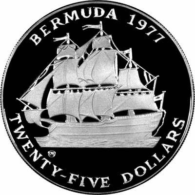 1977 Silver Jubilee Bermuda $25 Silver Proof