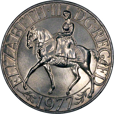Reverse of 1977 Queen's Silver Jubilee Crown