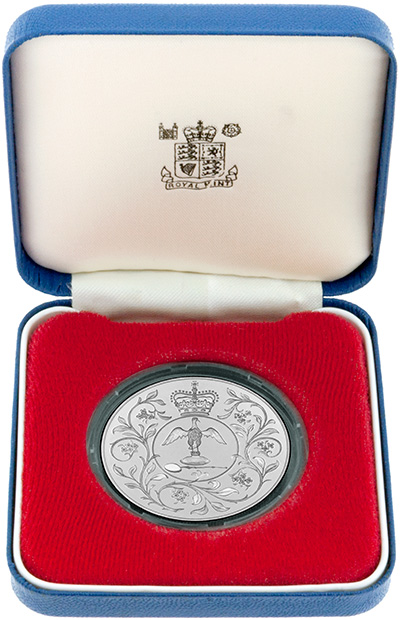 1977 Silver Proof Crown in Presentation Box