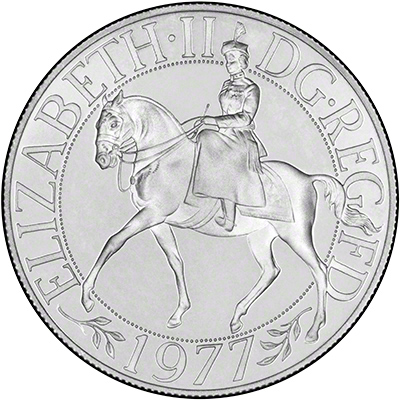 Equestrian Portrait of The Queen Recalling the 1953 Coronation Crown