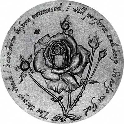 Reverse of 1977 Elizabeth II Silver Jubilee Medallion