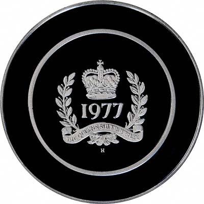 Obverse of 1977 Silver Jubilee Medallions