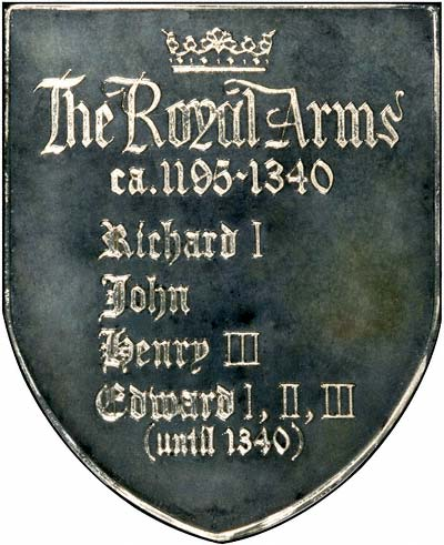 Reverse of 1977 Royal Arms Silver Medallion