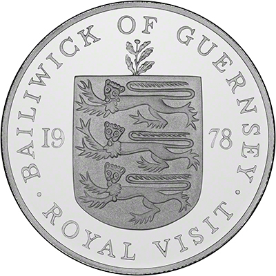 Obverse of 1990 Guernsey Queen Mother's 90th Birthday Two Pounds