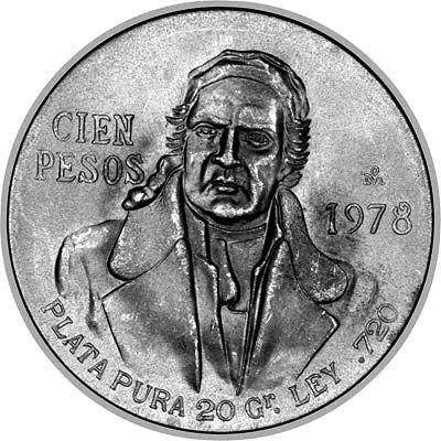 Obverse of 2000 Mexican Silver Libertad