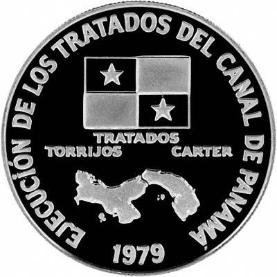 Obverse of 1979 Panama Platinum 200 Balboas