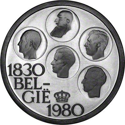 Obverse of 1980 Belgian 500 Francs - Dutch Legend