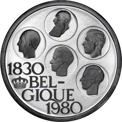 Obverse of 1980 Belgian 500 Francs- French Legend
