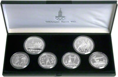Russian Moscow Olympic Silver Crowns