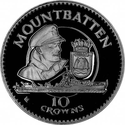 Reverse of 1980 10 Crowns Silver Proof
