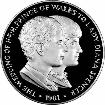 Reverse of 1981 Royal Wedding Medallions
