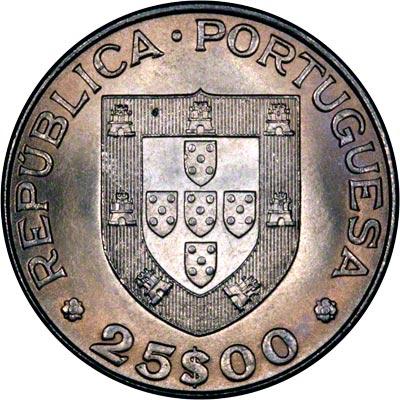 Obverse of 1984 Portugal 25 Escudos